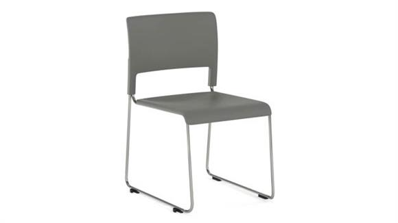 Stacking Chairs Office Source Armless Stackable Sled Base Side Chair