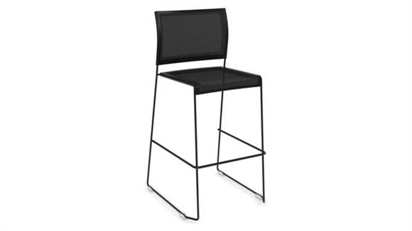 Stacking Chairs Office Source Mesh Stack Chair - Bistro Height
