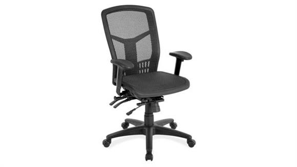 Office Chairs Office Source Cool Mesh High Back Chair with Mesh Seat & Back and Adjustable Arms