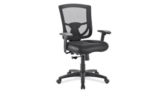 Office Chairs Office Source Mesh Back Task Chair with Leather Seat
