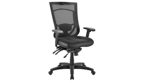 Office Chairs Office Source Cool Mesh Pro Multi Function Chair with Leather Seat