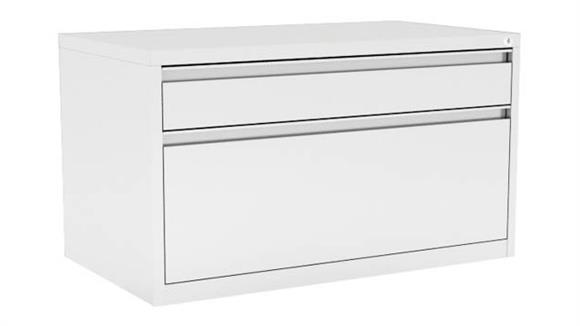 "File Cabinets Lateral Office Source 30""W 2 Drawer Lateral Metal File Cabinet"