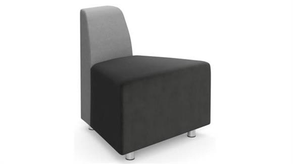 Accent Chairs Office Source Armless Wedge with Back