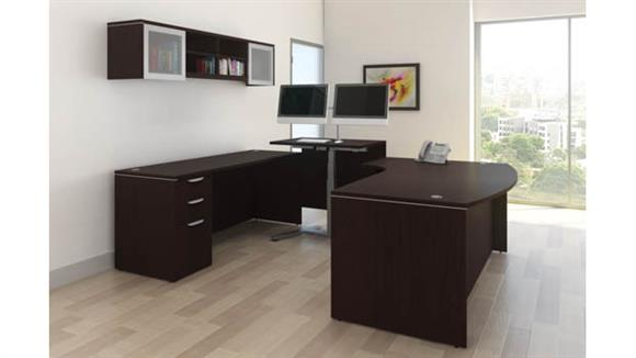 Adjustable Height Desks & Tables Office Source U Shape Standup Desk Set