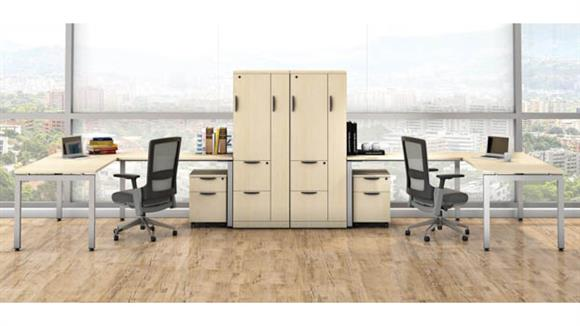 L Shaped Desks Office Source Double L Shaped Desk Units