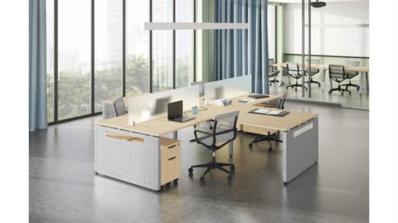Workstations & Cubicles Office Source 4 Person Workstation