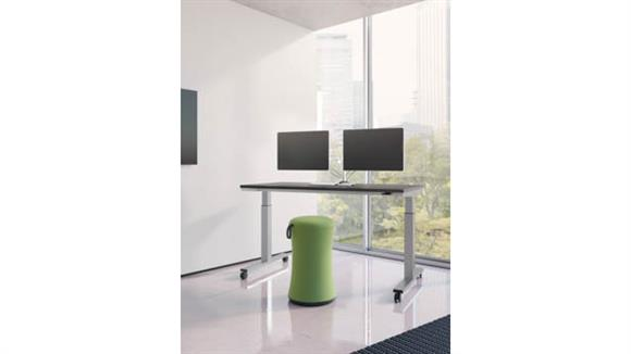 "Standing Height Desks Office Source 60""W x 24""D Mobile Standing Desk"