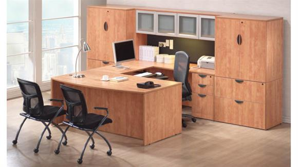 U Shaped Desks Office Source U Shaped Desk with Hutch and Additional Storage