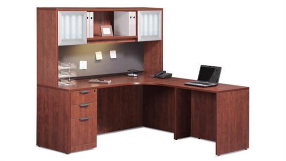 "L Shaped Desks Office Source 72"" x 66"" L Shaped Desk with Hutch"
