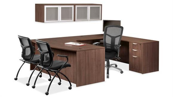 U Shaped Desks Office Source U Shaped Desk with Open Hutch