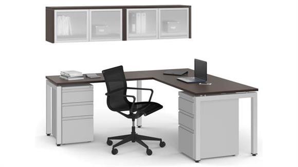 L Shaped Desks Office Source L Shaped Desk Set