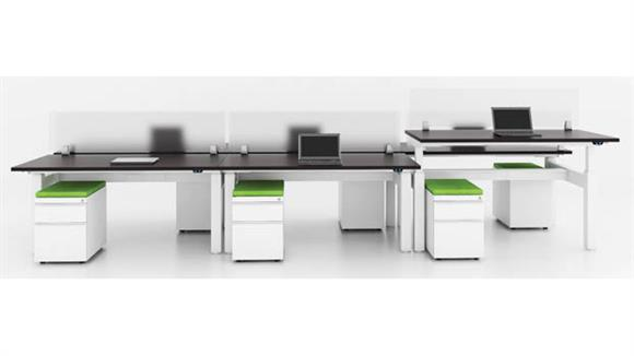 Adjustable Height Desks & Tables Office Source Standup Desk Set