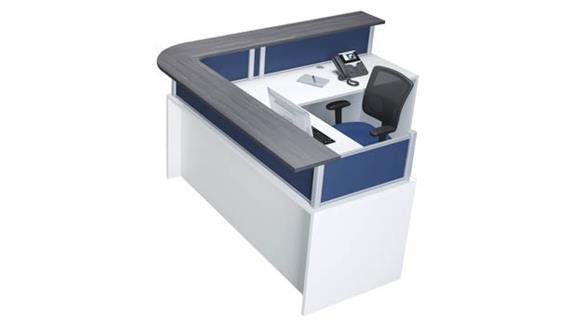 Reception Desks Office Source L-Shaped Reception Desk