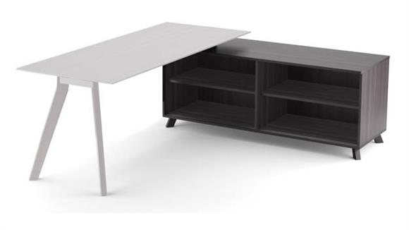 "Desk Parts & Accessories Office Source 63"" Open Side Return"