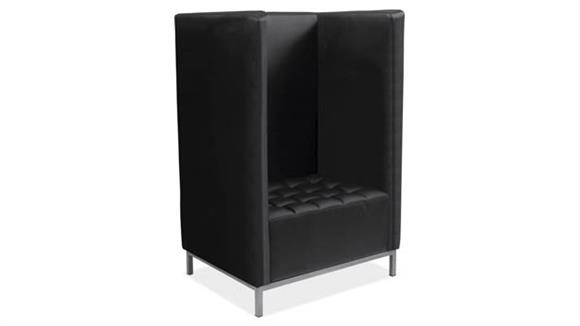Side & Guest Chairs Office Source Modular Privacy Chair Cubby