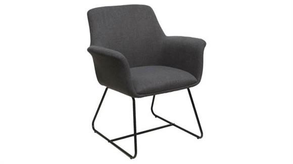 Side & Guest Chairs Office Source Mid Back Guest Chair with Metal Sled Base