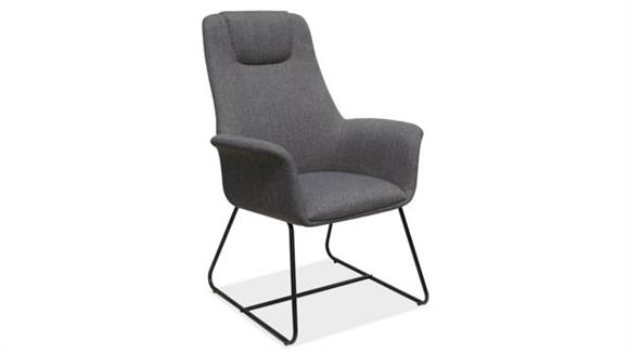 Side & Guest Chairs Office Source High Back Guest Chair with Metal Sled Base