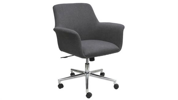 Office Chairs Office Source Mid Back Swivel Chair with Chrome Base