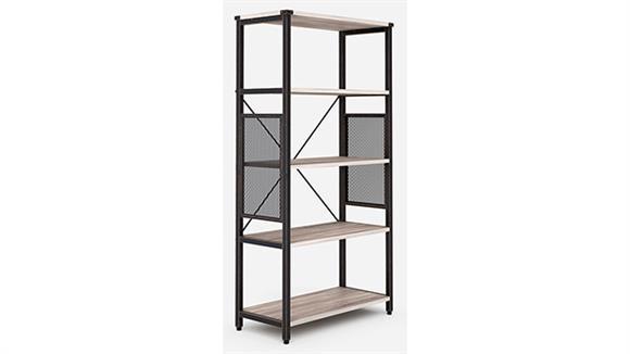 Bookcases Office Source Light Industrial Metal Framed Bookshelf