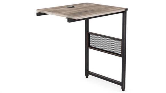 """Executive Desks Office Source 24"""" x 20"""" Light Industrial Metal Framed Return"""