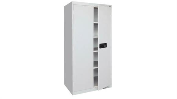 "Storage Cabinets Office Source 36""W x 18""D x 72""H Steel Storage Cabinet with Electronic Lock Keypad"