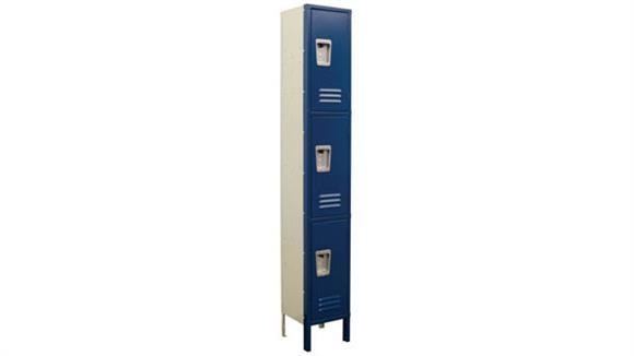 "Lockers Office Source Corridor Locker - 3 Tier 12""W x 12""D x 72""H"