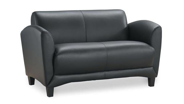 Sensational Leather Loveseat By Office Source Home Interior And Landscaping Ologienasavecom