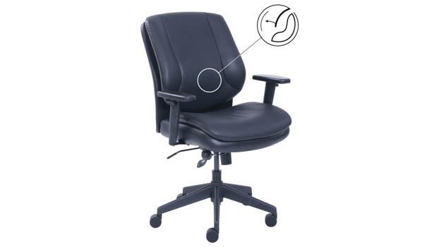 Mid Back Swivel Chair With Tilt Tension By Office Source