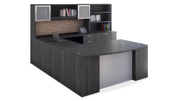 newest 3bd8e 880ec U Shaped Desk Unit by Office Source