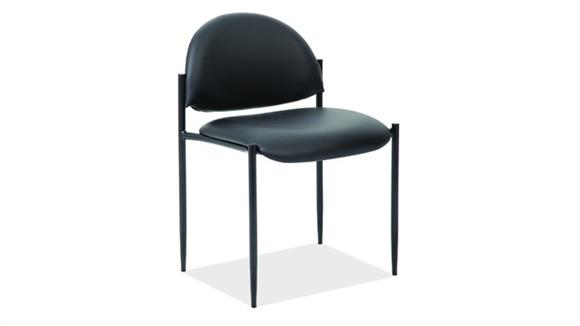 Stacking Chairs Office Source Furniture Armless Stacking Side Chair with Black Frame