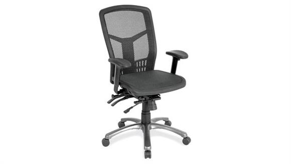 Office Chairs Office Source Furniture Cool Mesh High Back Chair with Mesh Seat and Aluminum Base