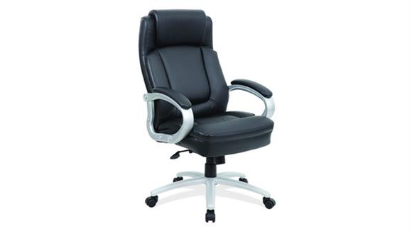 Big & Tall Office Source Furniture Big & Tall Executive with Silver Heavy Duty Metal Base