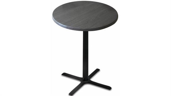 "Cafeteria Tables Office Source Furniture 30"" Height, 30"" Round Indoor/Outdoor Table with X Base"
