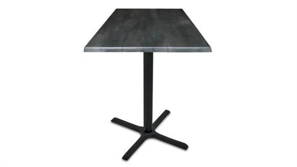 "Pub & Bistro Tables Office Source Furniture 36"" Height, 30"" x 30"" Square Indoor/Outdoor Table with X Base"
