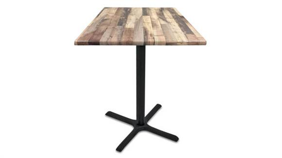 "Cafeteria Tables Office Source Furniture 30"" Height, 36"" x 36"" Square Indoor/Outdoor Table with X Base"