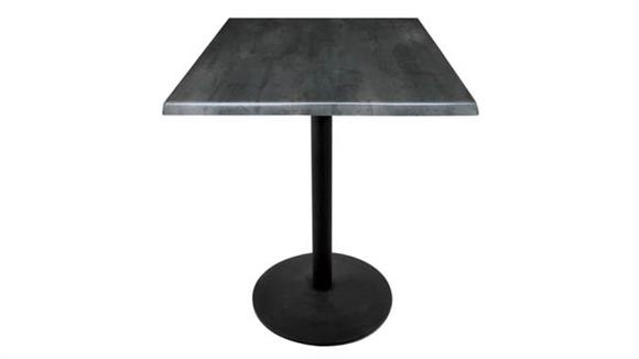 "Cafeteria Tables Office Source Furniture 30"" Height, 36"" x 36"" Square Indoor/Outdoor Table with Round Base"