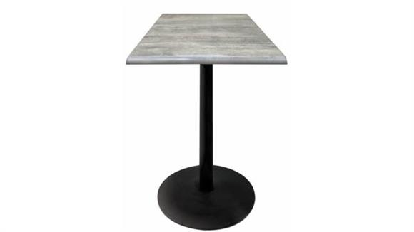 "Pub & Bistro Tables Office Source Furniture 42"" Height, 30"" x 30"" Square Indoor/Outdoor Table with Round Base"