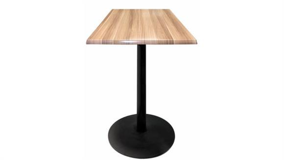 "Pub & Bistro Tables Office Source Furniture 36"" Height, 30"" x 30"" Square Indoor/Outdoor Table with Round Base"