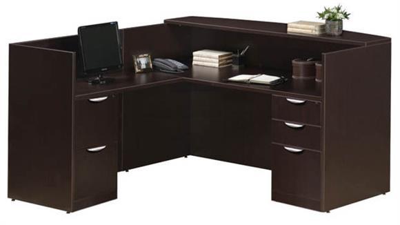 Reception Desks Office Source Furniture L Shaped Reception Desk with Full Pedestals