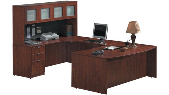 U Shaped Desks Office Source Furniture U Shaped Desk with Hutch