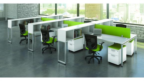 Workstations & Cubicles Office Source Furniture 6 Person Workstation