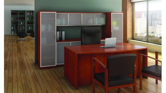 Workstations & Cubicles Office Source Furniture Bow Front Desk with Storage