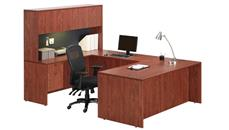 "U Shaped Desks Office Source Furniture 66"" U Shaped Desk with Hutch"