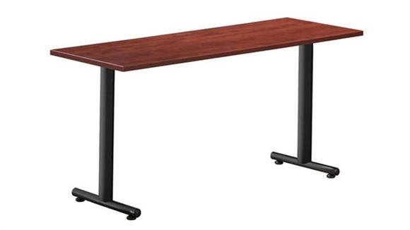 "Training Tables Office Source Furniture 66"" x 30"" Training Table with T Legs"