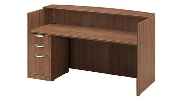 Reception Desks Office Source Furniture Single Pedestal Reception Desk