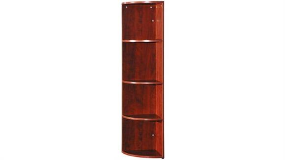 "Bookcases Office Source Furniture 66"" High Corner Bookcase"