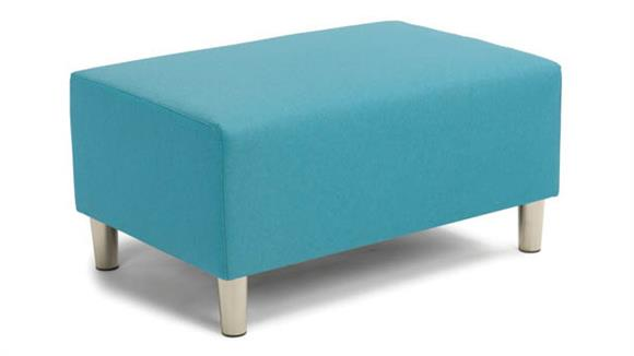 Ottomans Office Source Furniture Double Ottoman - Fabric