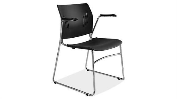 Stacking Chairs Office Source Furniture Stackable Side Chair with Arms