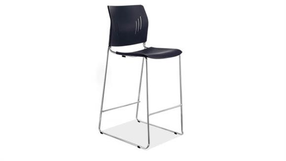 Counter Stools Office Source Furniture Polyurethane Stool with Chrome Frame