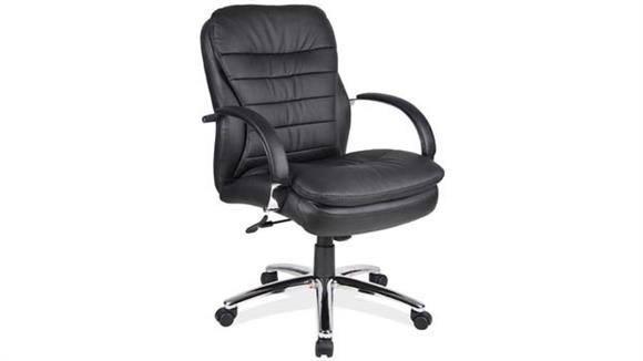 Office Chairs Office Source Furniture Executive Mid Back Chair with Chrome Frame